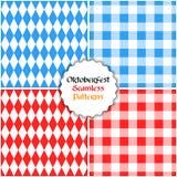 Vektorsatz oktoberfest nahtloser Musterhintergrund Lizenzfreie Stockbilder