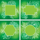 Vektorsatz organische natürliche Rahmen Stockfotos