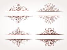Vektorsatz Ornamentrahmen Lizenzfreie Stockfotografie