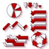 Vektorsatz Pfeile und Diagramm für infographic Lizenzfreie Stockfotos