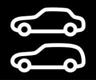 Vektorsatz Schattenbilder von Autos Stockfoto