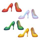 Vektorsatz Schuhe Lizenzfreies Stockfoto