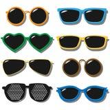 Vektorsatz Sonnenbrille Stockfotos