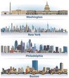 Vektorsatz Stadtskyline Vereinigter Staaten lizenzfreie abbildung