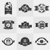 Vektorsatz studioy Logoschablonen des Fotos Stockbilder