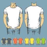 Vektorsatz T-Shirts Schablonen Lizenzfreie Stockbilder