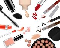 Vektorsatz unterschiedliches Make-up Stockbilder