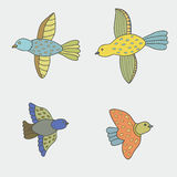 Vektorsatz Vögel lizenzfreie abbildung