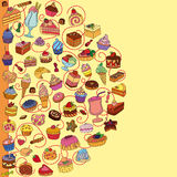 Vektorsatz verschiedene Bonbons Stockfotos