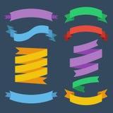 Vektorsatz verschiedene Farbbänder Stockfotografie