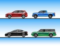 Vektorsatz verschiedene raffic Fahrzeuge Stockfoto