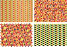 Vektorsatz von vier Mustern Stockfoto