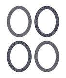Vektorsatz von vier ovalen Windungsrahmen Stockfotos