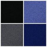 Vektorsatz von vier verschiedenen Versionen der Jeans- oder Denimbeschaffenheit Stockfoto