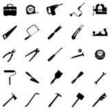 Vektorsatz von 25 Werkzeugikonen Stockbilder
