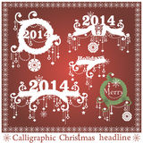 Vektorsatz Weihnachtsschlagzeilen stock abbildung