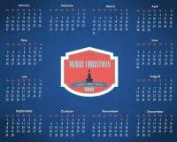 Vektorschablone des Kalenderjahr-2013 Stockbilder