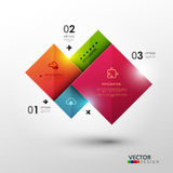 Vektorschablone für Darstellung Stockfotos