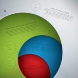 Vektorschablone im modernen Design. Vier Platten in der unterschiedlichen Farbe Stockfotos