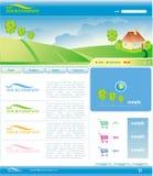 Vektorschablone von Web site Lizenzfreie Stockbilder