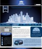 Vektorschablone von Web site Lizenzfreies Stockfoto