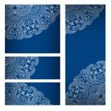 Vektorschablonenblumenmustergrafikdesigne. Stockfoto