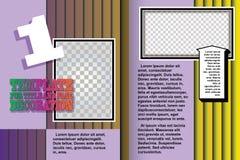 Vektorschablonenbroschüre in der abstrakten Art Stockfotos
