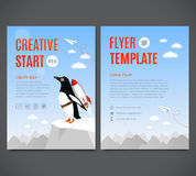 Vektorschablonendesign, Flieger, Broschüre, Abdeckung, Seite Kreativer Anfang und kreatives Ideenkonzept Stock Abbildung