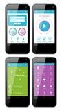 Vektorschablonenschnittstelle für Telefon Stockbilder