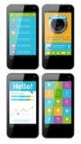 Vektorschablonenschnittstelle für Telefon Stockfoto