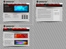 Vektorschablonenweb site Stockbilder