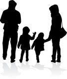 Vektorschattenbild der Familie Stockbild