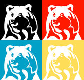 Vektorschattenbild des Bären stockfotos