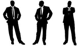 Vektorschattenbild des Geschäftsmannes Stockbild