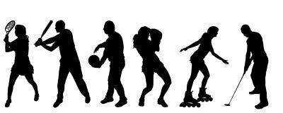 Vektorschattenbild des Sports lizenzfreie abbildung