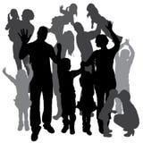 Vektorschattenbild einer Familie Stockbilder