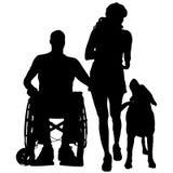 Vektorschattenbild einer Familie Lizenzfreies Stockbild