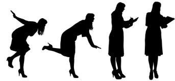 Vektorschattenbild einer Frau lizenzfreie abbildung