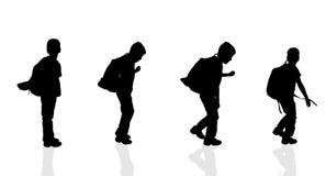 Vektorschattenbild eines Jungen Lizenzfreies Stockbild