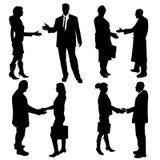 Vektorschattenbild von Geschäftsleuten Lizenzfreies Stockfoto