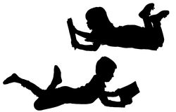 Vektorschattenbild von Kindern Lizenzfreie Stockbilder