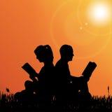 Vektorschattenbild von Paaren Lizenzfreies Stockfoto