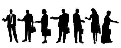 Vektorschattenbilder von Geschäftsleuten Stockfoto