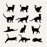 Vektorschattenbilder von Katzen Lizenzfreies Stockbild
