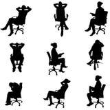 Vektorschattenbilder von Leuten Stockbild