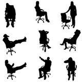 Vektorschattenbilder von Leuten Stockbilder