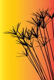 Vektorschattenbildgras für Hintergrund Lizenzfreies Stockbild
