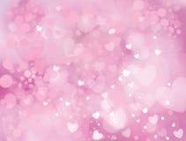 Vektorschein, rosa Hintergrund Stockbild