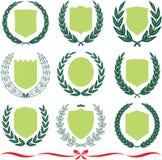 Vektorschilder und Lorbeer Wreaths eingestellt lizenzfreie abbildung