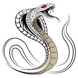Vektorschlange, Kobra lizenzfreies stockfoto